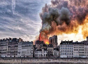 A Serious Fire Broke Out In Notre Dame de Paris, France